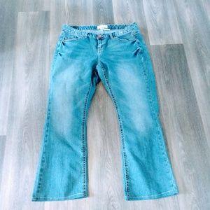 Maurice's women's 16 long denim jeans